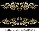 tribal design wing | Shutterstock .eps vector #675701659