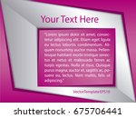 template silver  pink and white ...   Shutterstock .eps vector #675706441