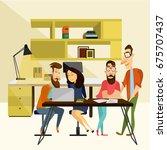 office team concept vector... | Shutterstock .eps vector #675707437