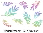 colorful leaves pattern... | Shutterstock . vector #675709159
