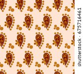 pattern for bed linen  vector...   Shutterstock .eps vector #675716461