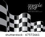 checkered flag set 2 design...   Shutterstock .eps vector #67572661
