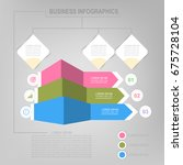 infographic template of three... | Shutterstock .eps vector #675728104