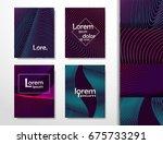 halftone minimal covers design...   Shutterstock .eps vector #675733291