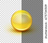 transparent soft gel capsule...   Shutterstock .eps vector #675734509