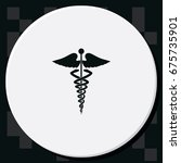 caduceus medical symbol. | Shutterstock . vector #675735901