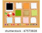cork notice board with blank... | Shutterstock .eps vector #67573828