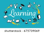 general learning. topics in the ... | Shutterstock .eps vector #675739069