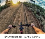 action shot point of view from... | Shutterstock . vector #675742447