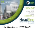 blue and green flyer cover... | Shutterstock .eps vector #675754651
