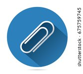 paperclip vector flat icon ... | Shutterstock .eps vector #675759745