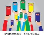 vote of concept   online vote... | Shutterstock .eps vector #675760567