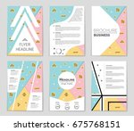 abstract vector layout... | Shutterstock .eps vector #675768151