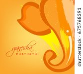 happy ganesh chaturthi  lord... | Shutterstock .eps vector #675768391