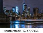 new york city night | Shutterstock . vector #675770161