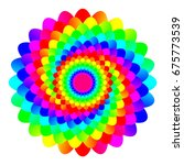 abstract rainbow colored... | Shutterstock . vector #675773539