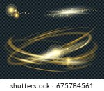 vector circle light effect with ... | Shutterstock .eps vector #675784561