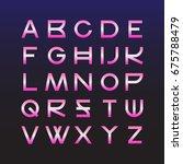 retro futurism style font. | Shutterstock .eps vector #675788479