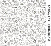 raster copy. cosmetics hand... | Shutterstock . vector #675790801