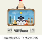 hand carrying taiwan landmark... | Shutterstock .eps vector #675791395