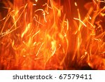 Hot Blazing Fire Abstract...