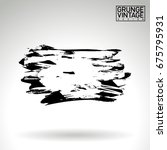 black brush stroke and texture. ... | Shutterstock .eps vector #675795931