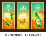 set of isolated cartoon banners ... | Shutterstock . vector #675801067