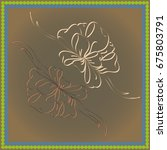 set hand drawn bows isolated on ... | Shutterstock .eps vector #675803791