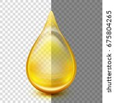 oil drop isolated on... | Shutterstock .eps vector #675804265