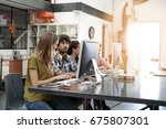 startup people working in office | Shutterstock . vector #675807301