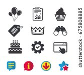 birthday crown party icons....