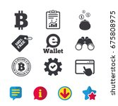 bitcoin icons. electronic...