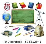 back to school collection.... | Shutterstock . vector #675812941