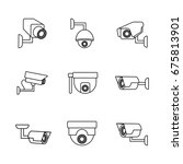 set of security surveillance...