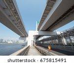 rainbow bridge in japan  | Shutterstock . vector #675815491