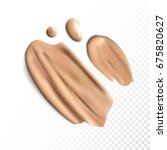 cosmetic concealer smear...   Shutterstock .eps vector #675820627