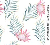 watercolor seamless pattern.... | Shutterstock . vector #675823489