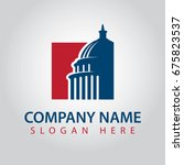 capitol america logo template | Shutterstock .eps vector #675823537