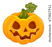 pumpkin isolated on white.... | Shutterstock . vector #675827911
