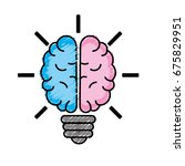 brain bulb to crative ideas... | Shutterstock .eps vector #675829951