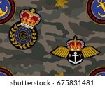 vector seamless camouflage... | Shutterstock .eps vector #675831481