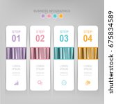 infographic template of four... | Shutterstock .eps vector #675834589