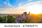 aerial view rock of cashel at... | Shutterstock . vector #675836971