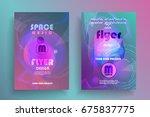 electronic music fest poster....   Shutterstock .eps vector #675837775