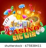 casino big win | Shutterstock .eps vector #675838411