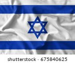 israel flag painting on high... | Shutterstock . vector #675840625