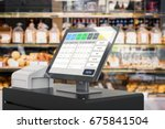 3d rendering point of sale... | Shutterstock . vector #675841504