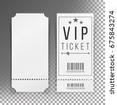 ticket template set vector.... | Shutterstock .eps vector #675843274