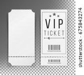 ticket template set vector.... | Shutterstock .eps vector #675843274