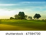 a beautiful golf course in the... | Shutterstock . vector #67584730